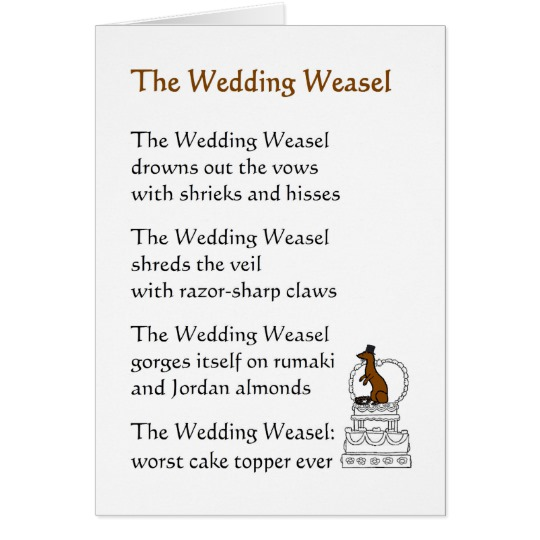 Wedding Poem Funny