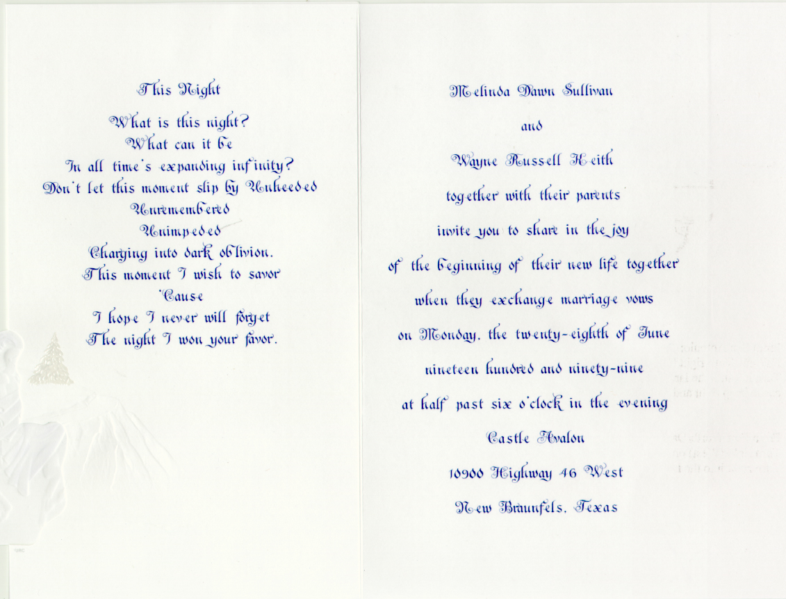 Wedding Invitation Wording Ideas With Poems: Wedding Invitation Poems