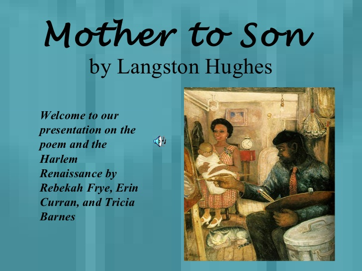short poem from mother to son