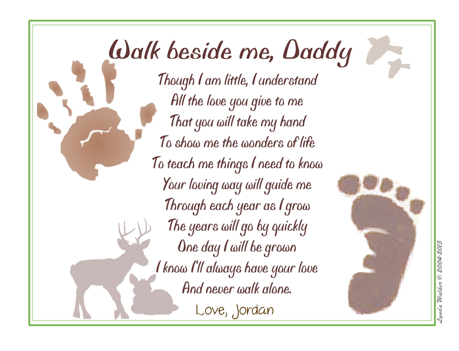 picture about Walk With Me Daddy Poem Printable called Daddy Poems
