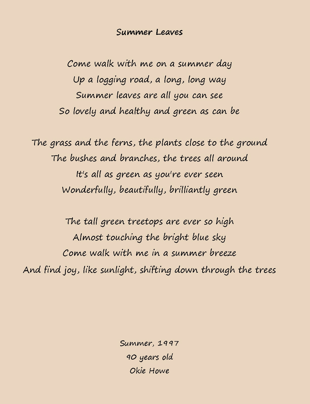 my summer poem The summer day first appeared in house of light (beacon press, 1990), and has been reprinted in new and selected poems, volume 1 (beacon press, 1992) and the truro bear and other adventures.