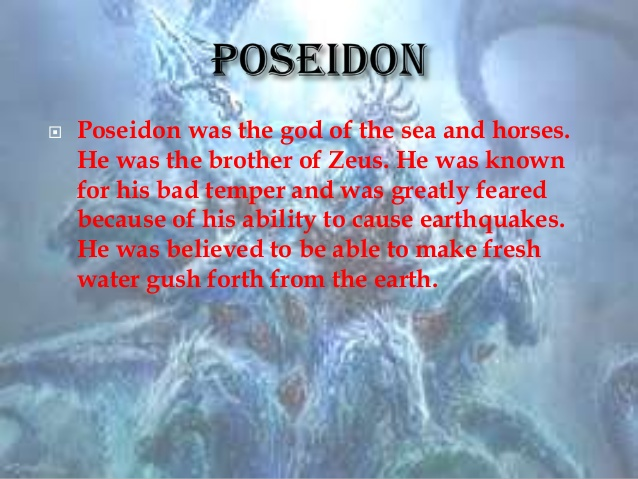 what is poseidon known for