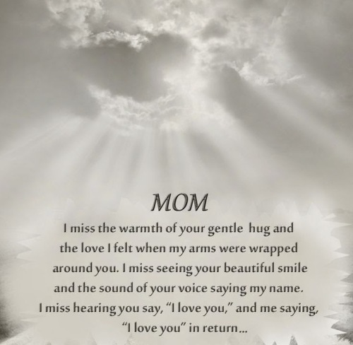 Tribute To Mother In Law Quotes: Missing Mom In Heaven Poems