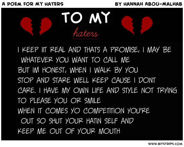 Haters Poems