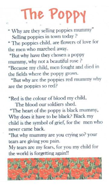 how to write a remembrance day poem