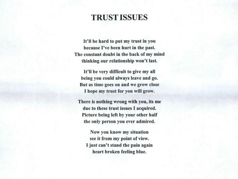 how to work on my trust issues