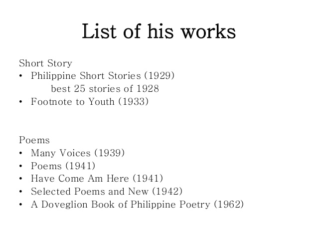 analysis footnote to youth Footnote to youth by: jose garcia villa who is jose garcia villa josé garcia villa was born on august 5,1908 in malate, manila, philippines, one of six children of guia garcia and dr simeon villa villa began painting as a boy and published his first story in the manila.