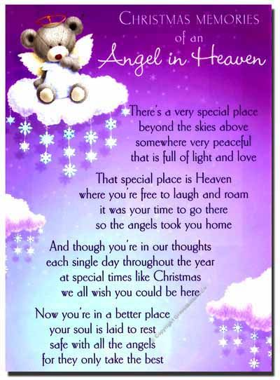Missing someone in heaven Poems