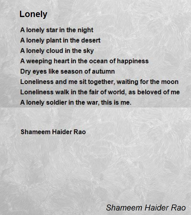 lonely hearts poem