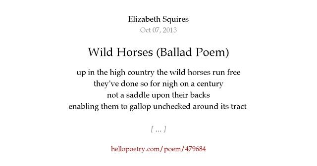 a short ballad poem