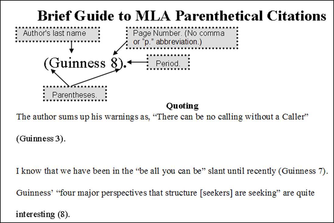 mla parenthetical citation poem