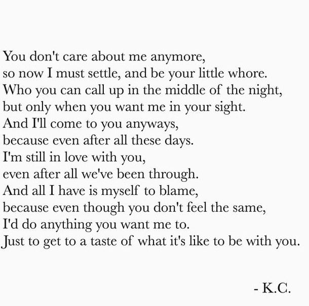 I Still Love You Poems