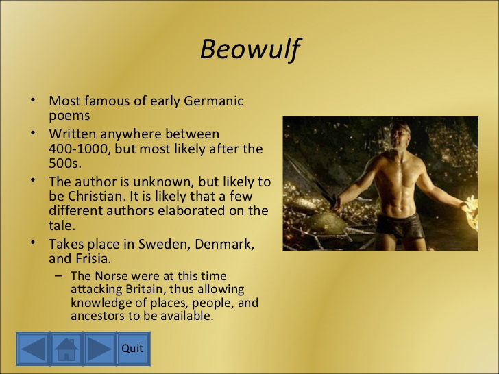 an analysis of beowulf in contrast to grendel an english epic poem For example, mankind's enemy used in place of grendel as you read beowulf, note examples of these techniques and consider their effect on rhythm and meaning in the poem.