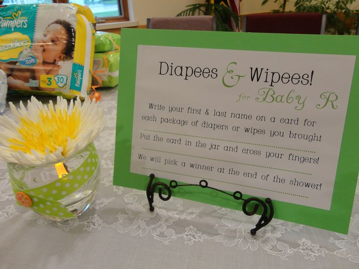 Diaper Raffle Poems