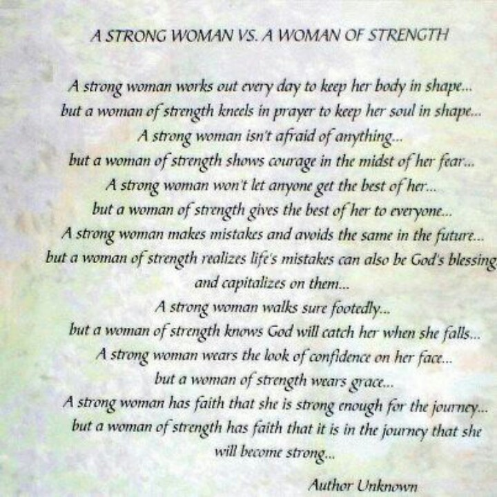 Strong Woman Poems
