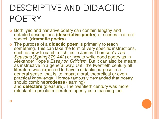 Didactic Poems