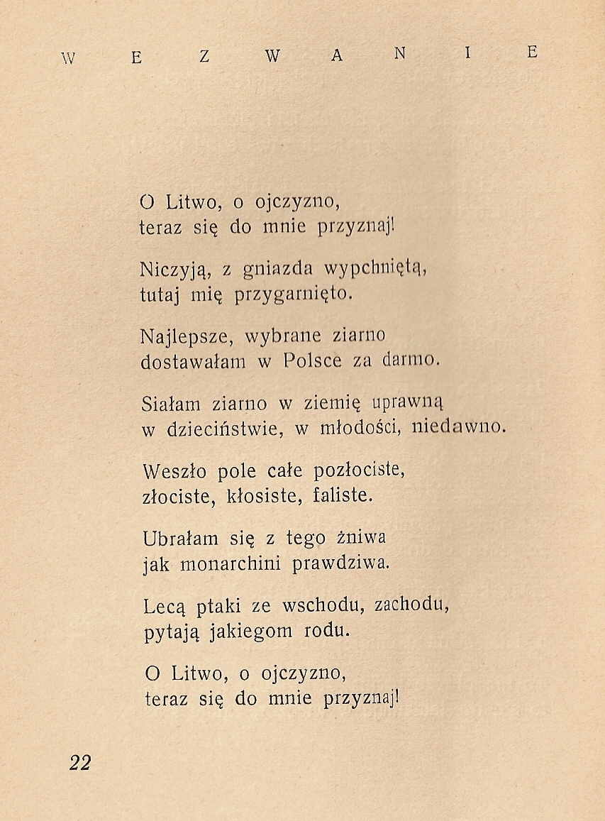 Lithuanian Poems