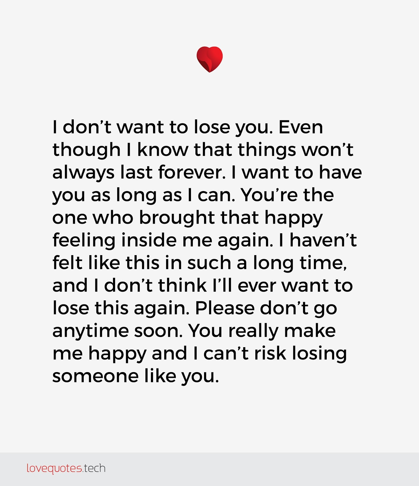 I Don T Want To Lose You Poems