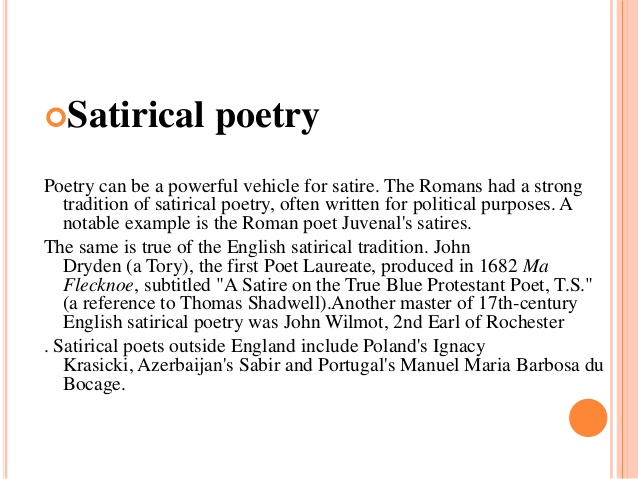 Satirical Poems