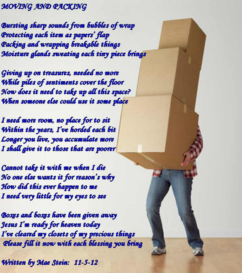 Moving away Poems