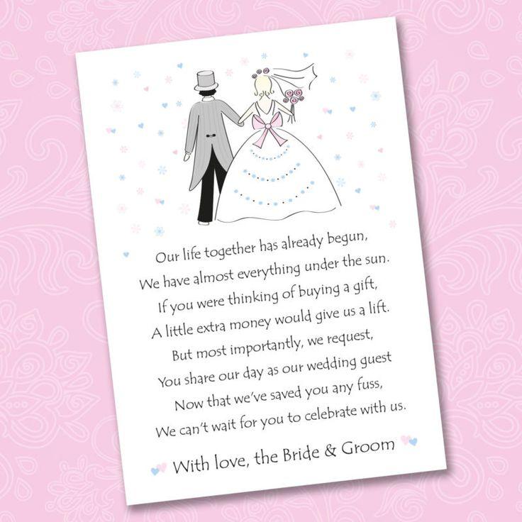 Wedding Invite Poems Money Honeymoon Invitationsjdi Org
