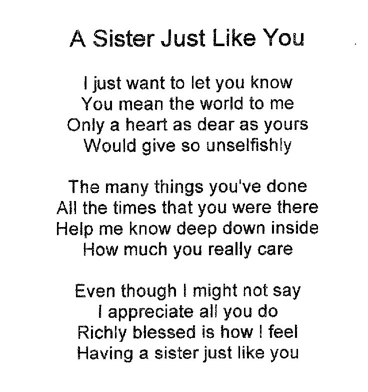 Sister Poems Simple I Love My Twin Sister Quotes
