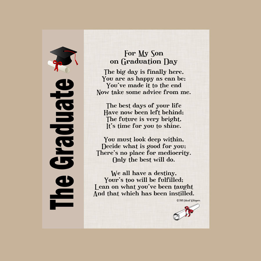Graduation Poems