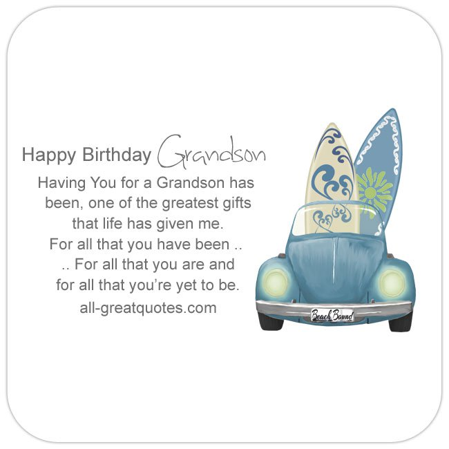 Happy Birthday Grandson S Wishes To Write In Cards