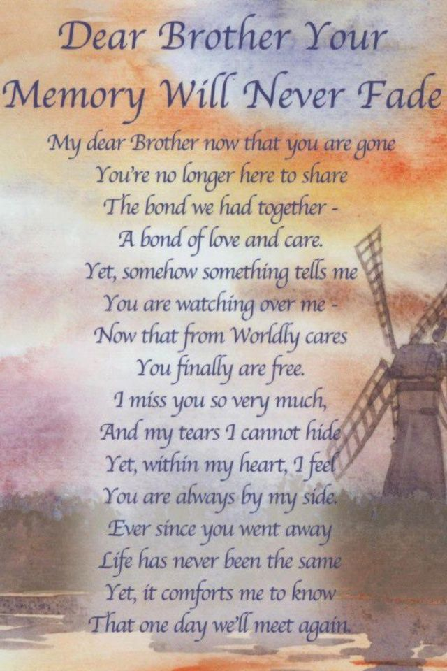 Missing My Brother Poems