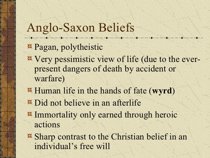 an overview of the aspects of christianity and the anglo saxon epic beowulf Anglo-saxon history and the english language  beowulf is generally described as an epic folk tale  history and the english language and literature1pdf.