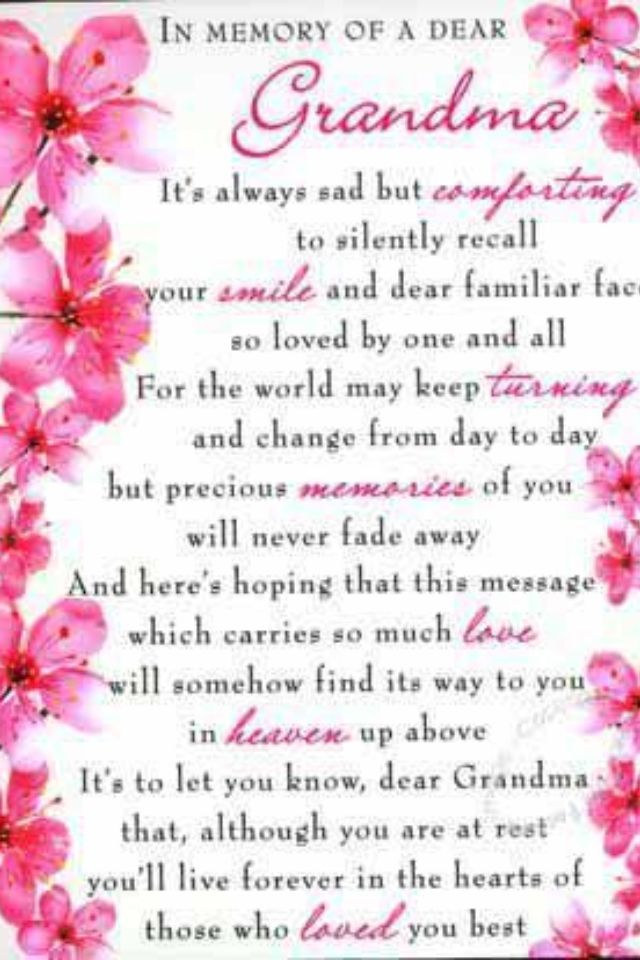 Grieving Grandparents Poems