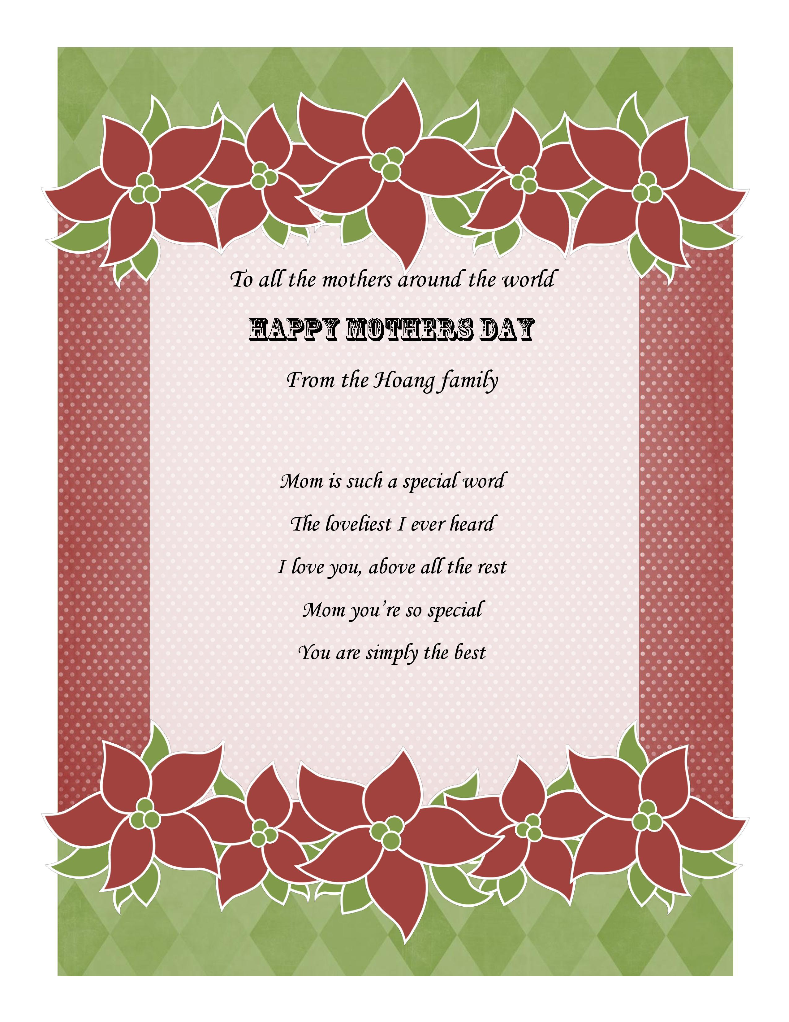 Spanish Mothers Day Poems