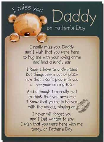fathers day verses for dads in heaven