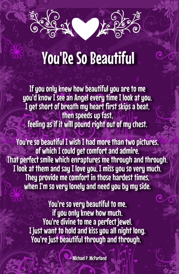 You Re Beautiful Poems