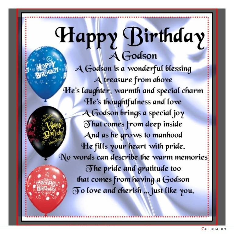 Happy 5th Birthday Quotes For Daughter: Godson Poems