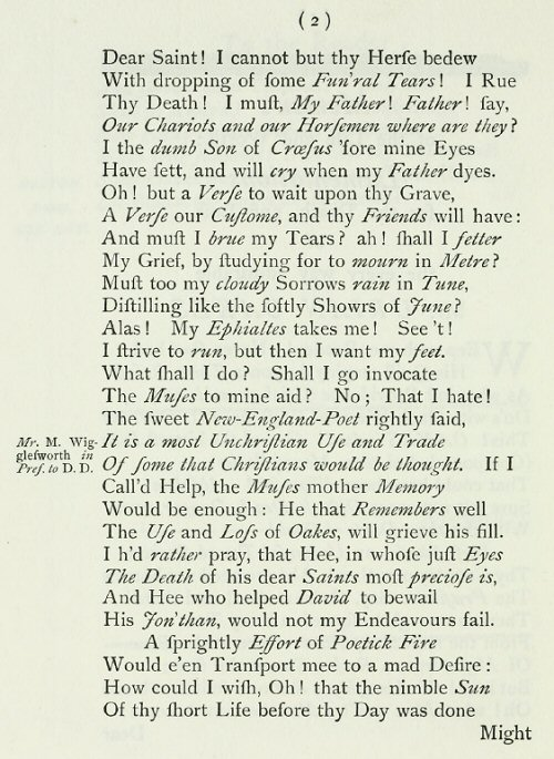 puritan poem paper It is puritan culture for women to remain reserved, regardless of how they may truly feel however the struggles and fears of a puritan motherbeing a puritan woman, anne bradstreet had trouble.