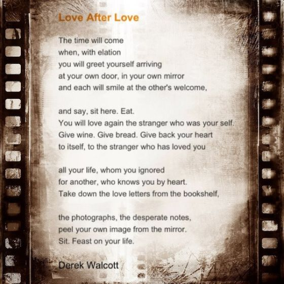 love after love poem by derek walcott poem hunter - 560×560