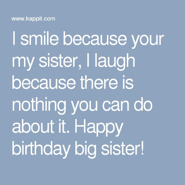 25 best ideas about happy birthday big sister on