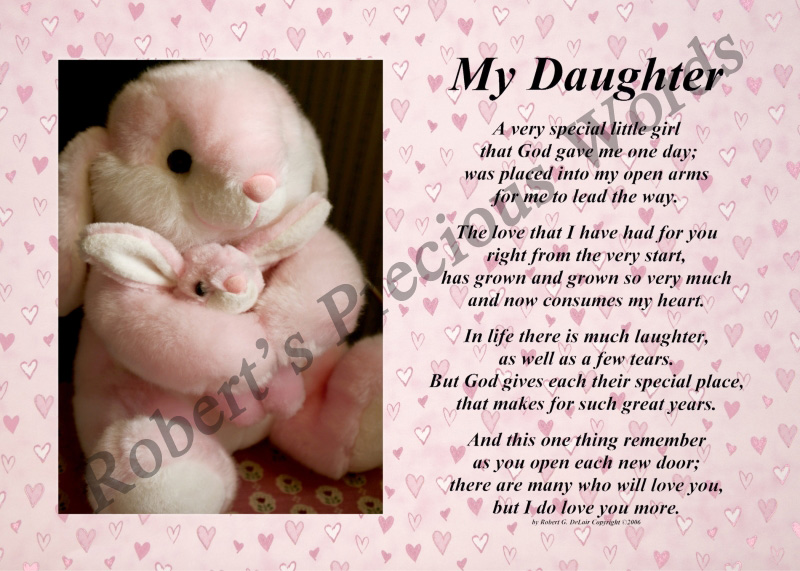 words for my daughter poem