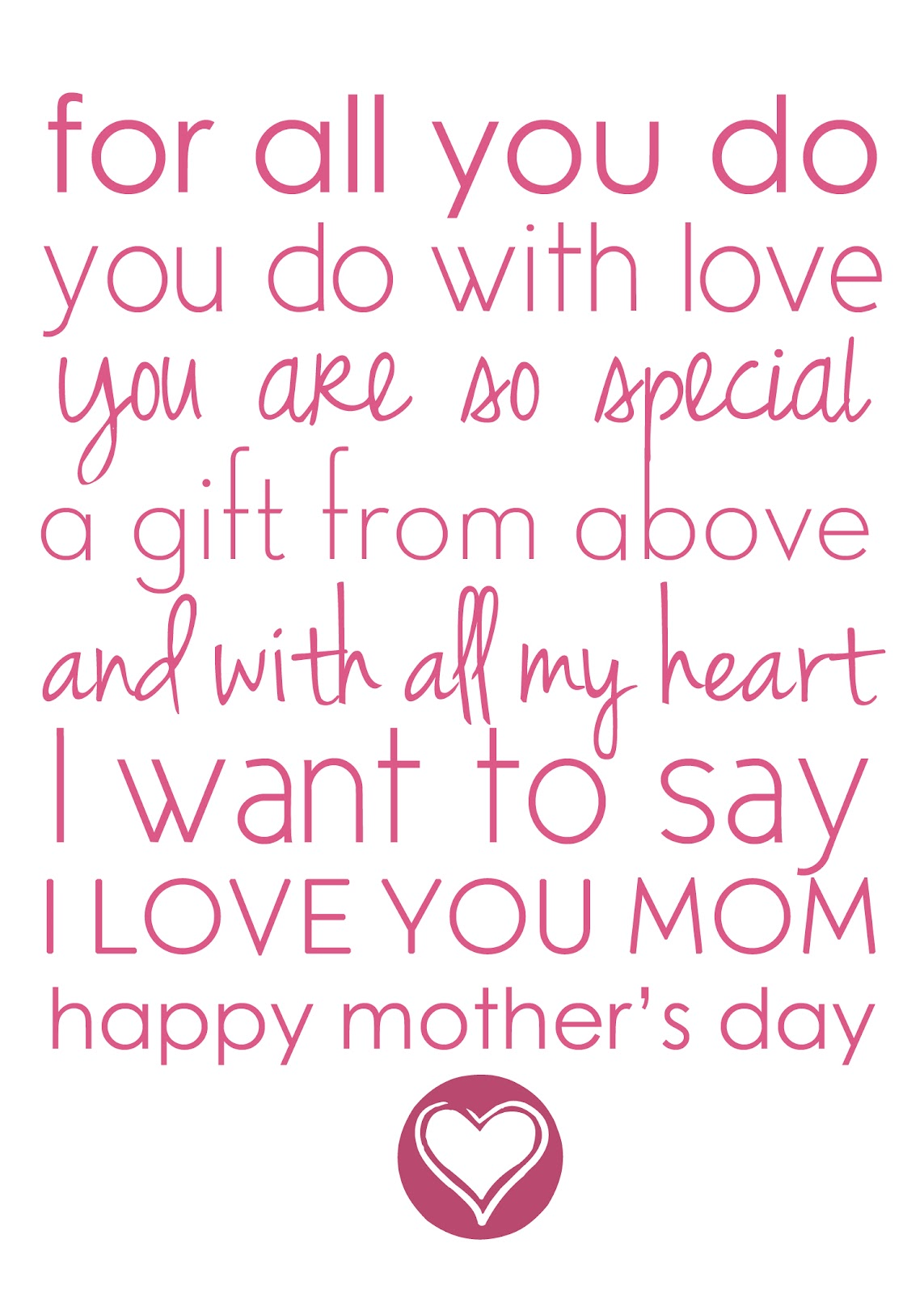mothers day short poems