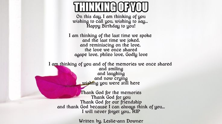Thinking of you Poems