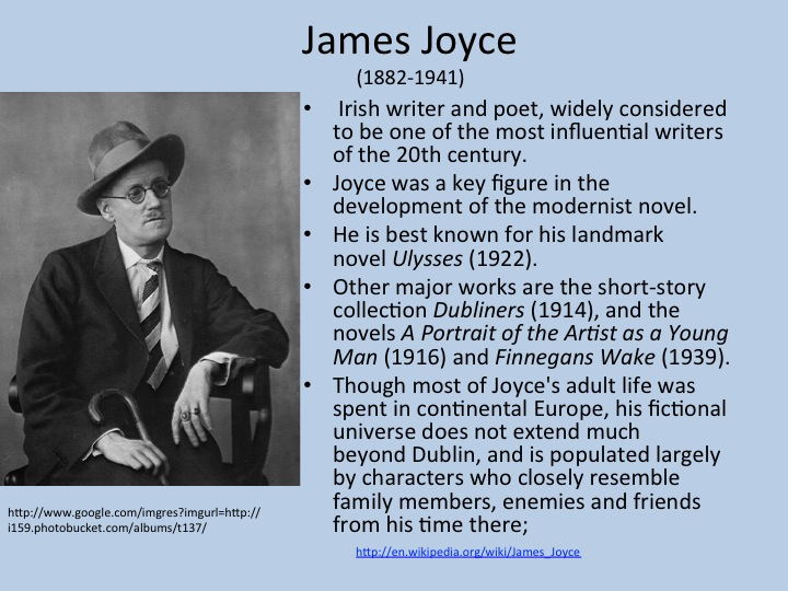 james joyces dubliners essay James joyce's dubliners, a collection of 15 short stories, defies literary norms by breaking the original storyline format of freytag's pyramid, which suggests that a clear beginning consisting of a proper introduction of the setting and the characters, a middle discussing the conflict that.