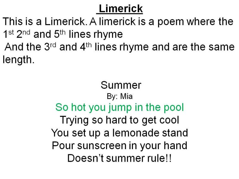 Rules Of A Limerick