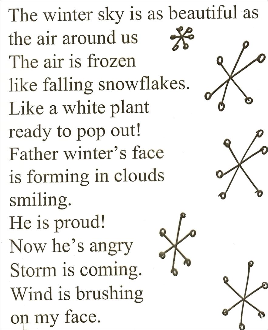 Kids Winter Poems
