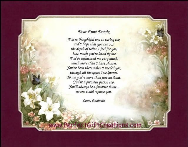 mothers day card verses for aunt