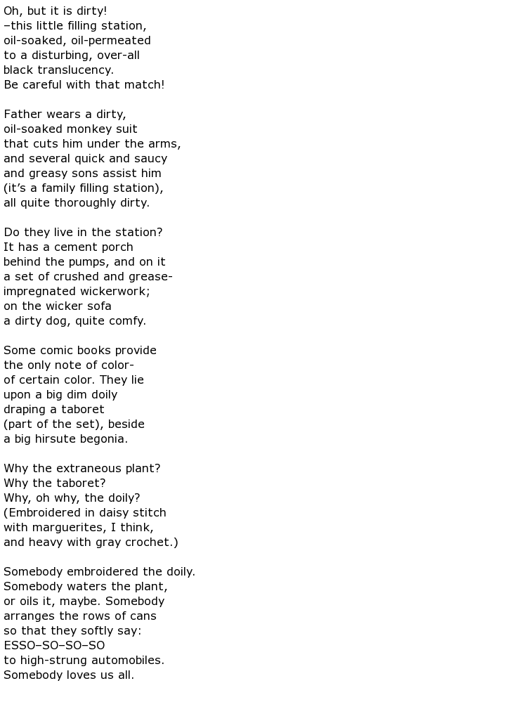 Elizabeth Bishop Poems