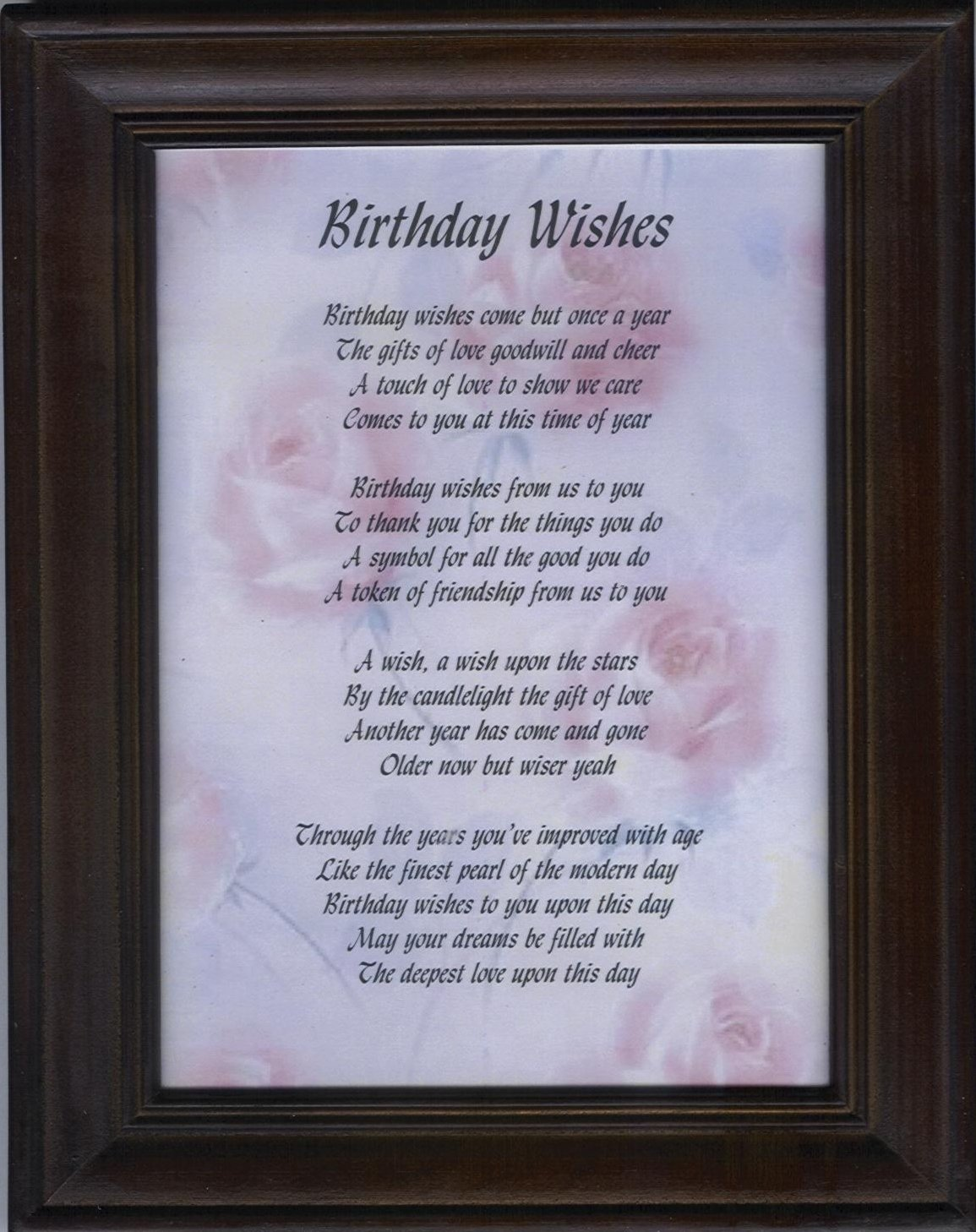 Religious Birthday Poems
