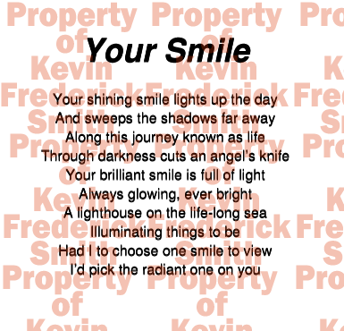 I love your smile poem for her
