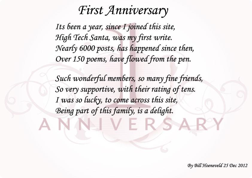 1 year anniversary poems stopboris Images