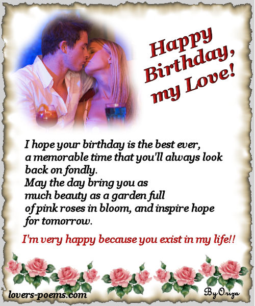 Outstanding Birthday Love Poems Personalised Birthday Cards Paralily Jamesorg